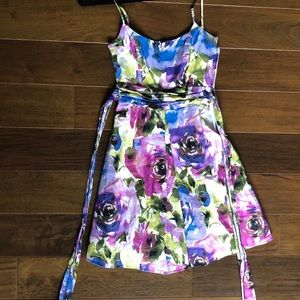 Multicolor A-Line Dress
